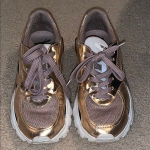 Valentino metallic bounce sneakers